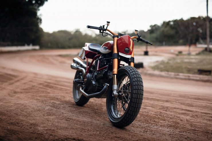 ducati scrambler tracker fuller moto 16 740x493 - Fuller Moto Ducati Pro Street Tracker