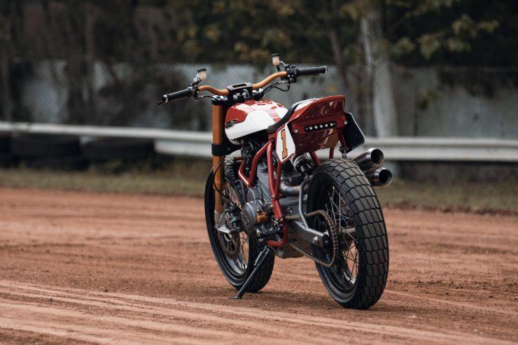 ducati scrambler tracker fuller moto 22 740x493 - Fuller Moto Ducati Pro Street Tracker