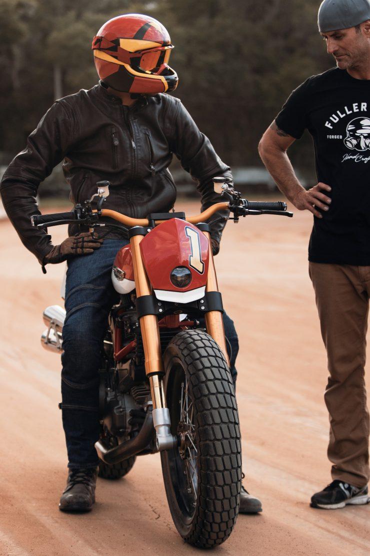 ducati scrambler tracker fuller moto 29 740x1110 - Fuller Moto Ducati Pro Street Tracker