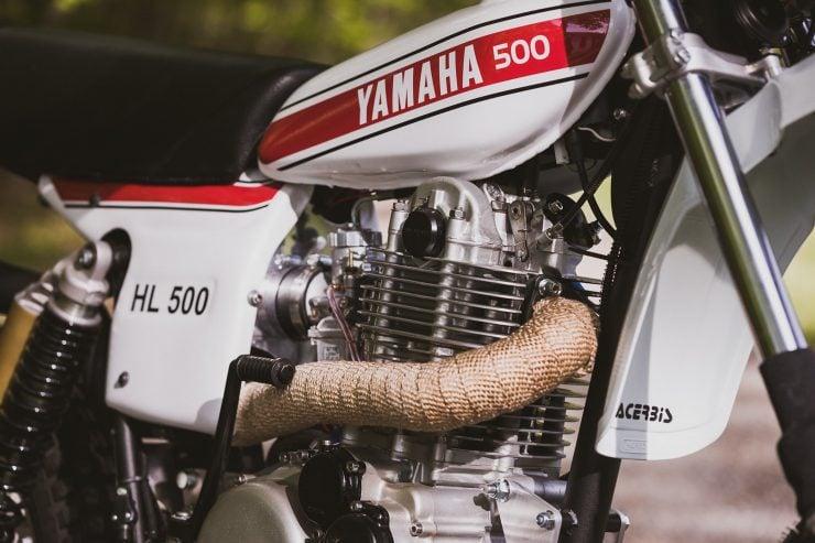 yamaha hl500 motorcycle 2 740x493 - Husky Restorations Yamaha HL500