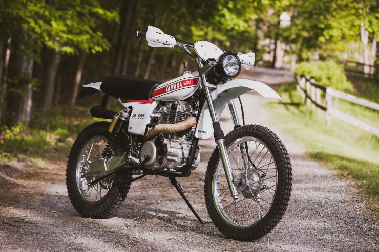 yamaha hl500 motorcycle 4 740x493 - Husky Restorations Yamaha HL500
