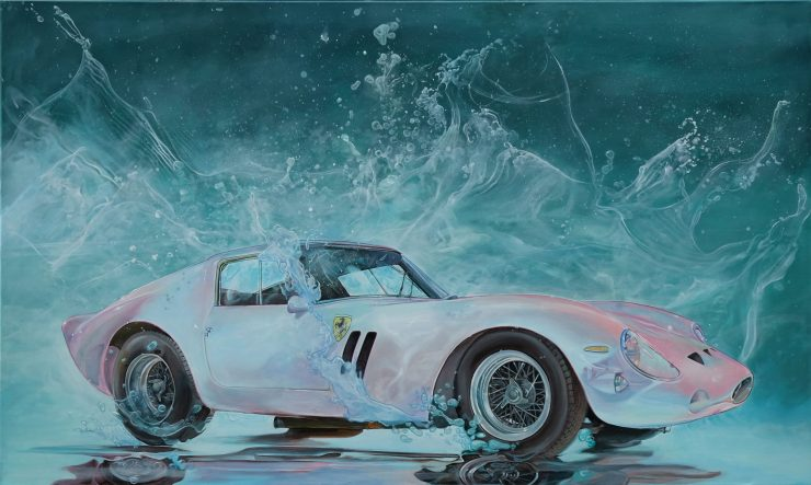 Ferrari 250 GTO Art Painting 740x443 - The Art of Marcello Petisci