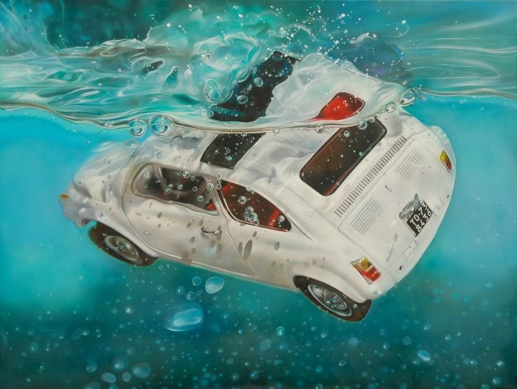 Fiat 500 Car Art 740x557 - The Art of Marcello Petisci