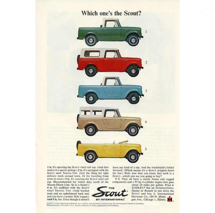 International Harvester Scout Ad Page 2 740x732 - Essential Buying Guide: International Harvester Scout 80 + 800