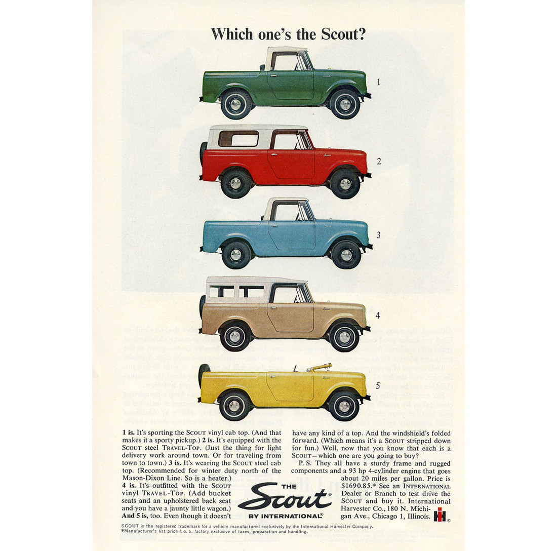 In 1968 the Scout 800 was upgraded to the Scout 800A. This model had some  cosmetic changes but most significant were the improvements to the drive  train.