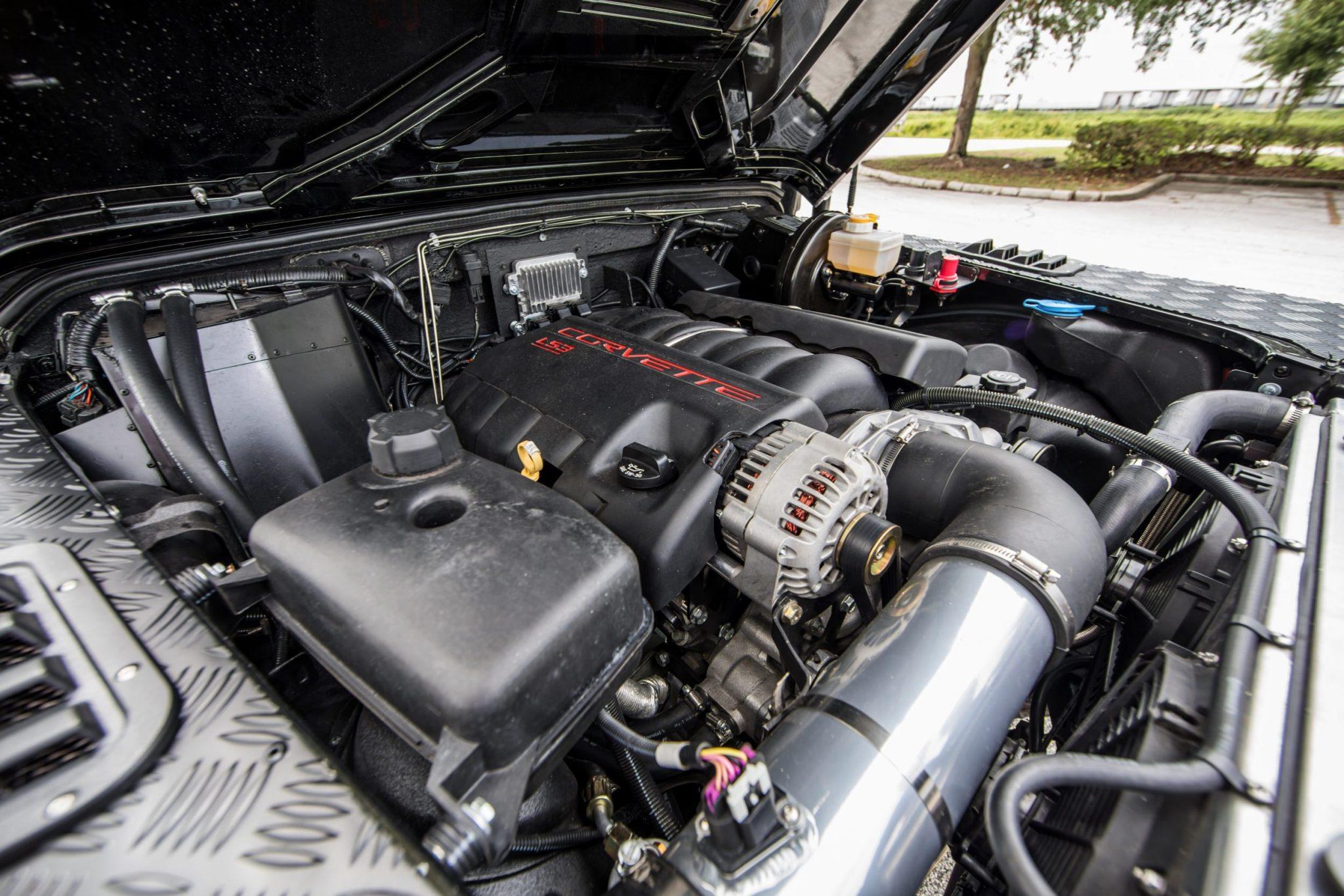 corvette engined land rover defender 32 - Corvette-Engined Land Rover Defender 90