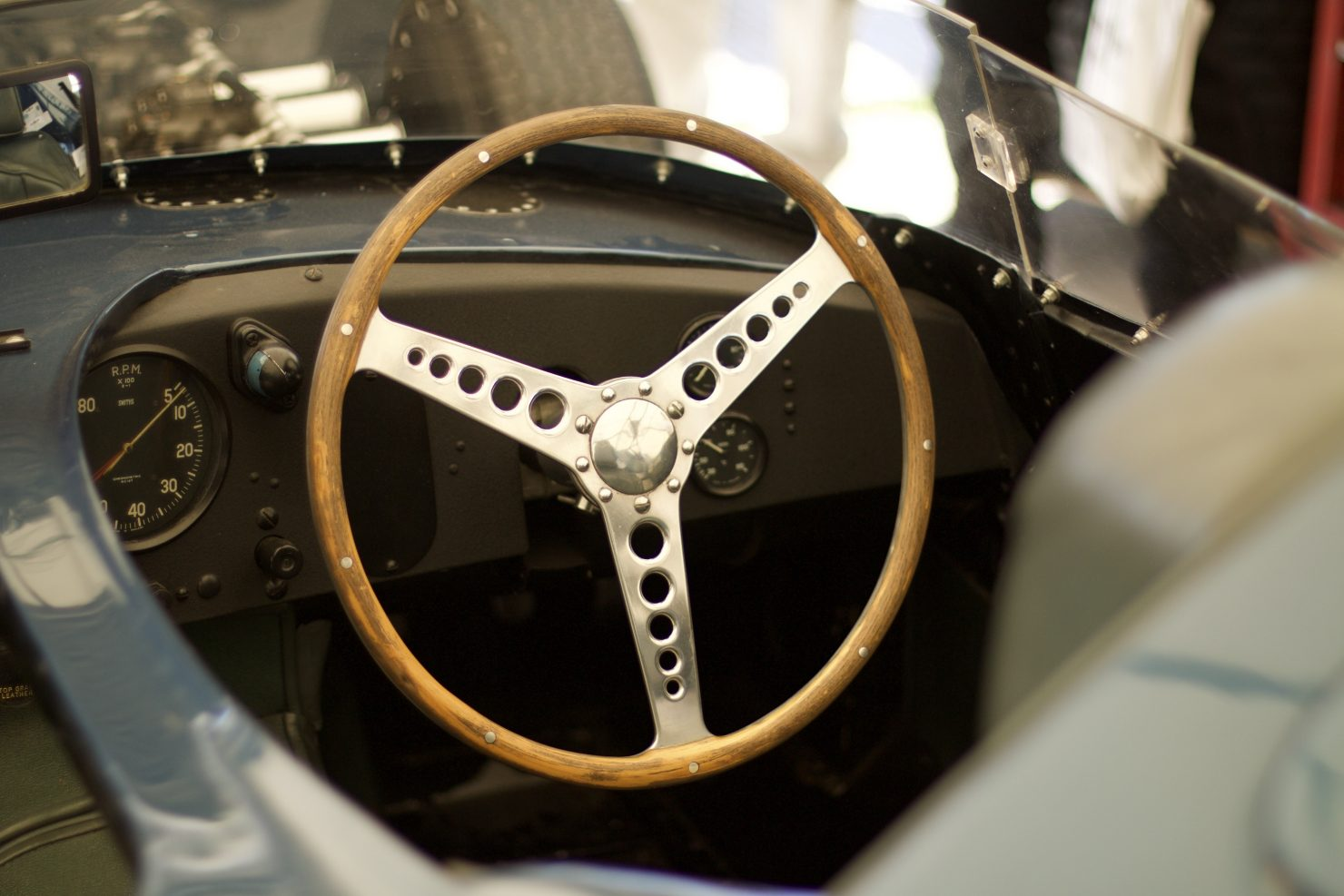 1956 Jaguar D Type Long Nose 1480x987 - Cockpits of Goodwood