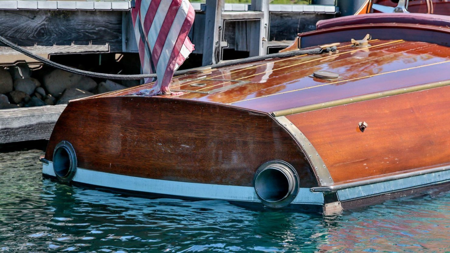 mahogany speed boat 1 1480x833 - 27 Liter V12 Brown & Bassett Gentleman's Racer