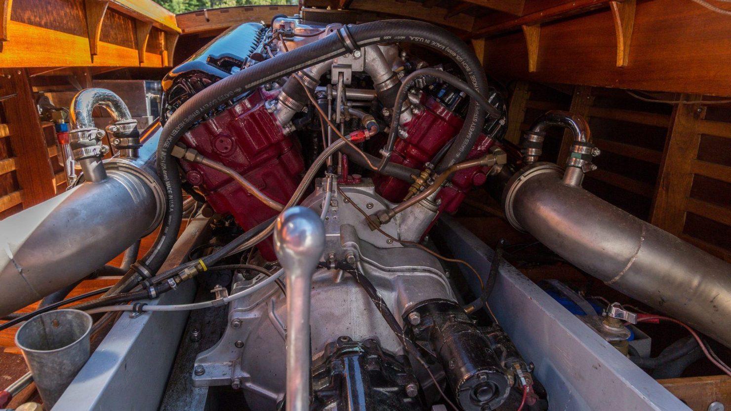 mahogany speed boat 12 1480x833 - 27 Liter V12 Brown & Bassett Gentleman's Racer