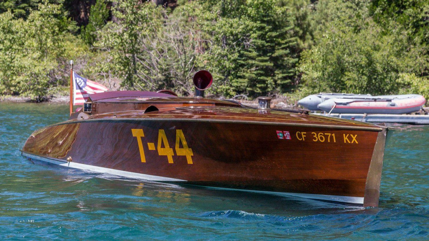 mahogany speed boat 3 1480x833 - 27 Liter V12 Brown & Bassett Gentleman's Racer