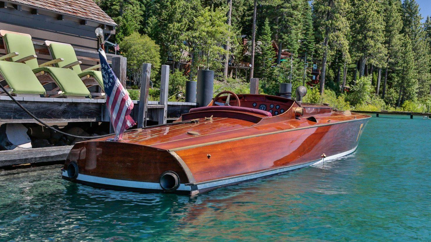 mahogany speed boat 6 1480x833 - 27 Liter V12 Brown & Bassett Gentleman's Racer