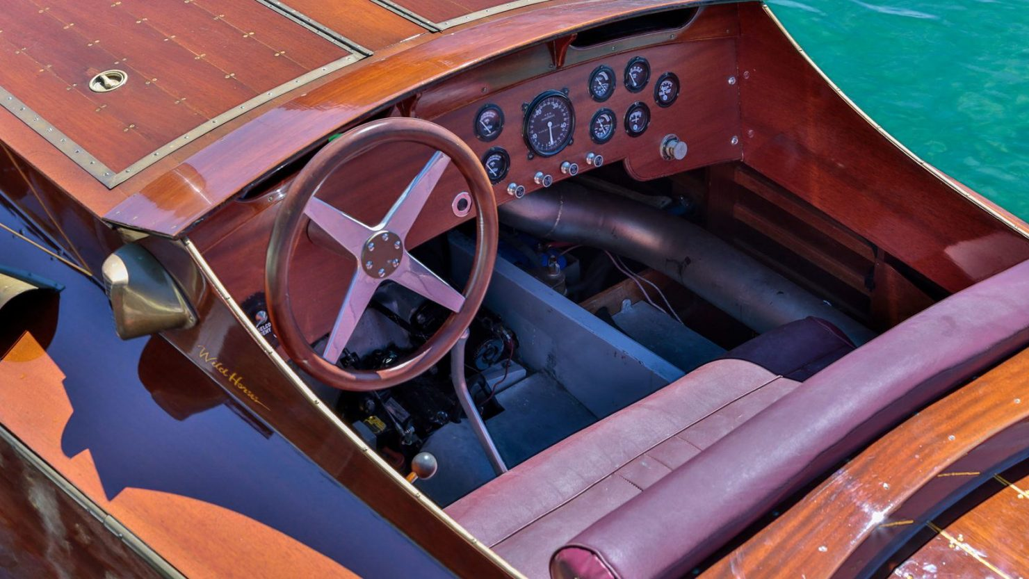 mahogany speed boat 7 1480x833 - 27 Liter V12 Brown & Bassett Gentleman's Racer