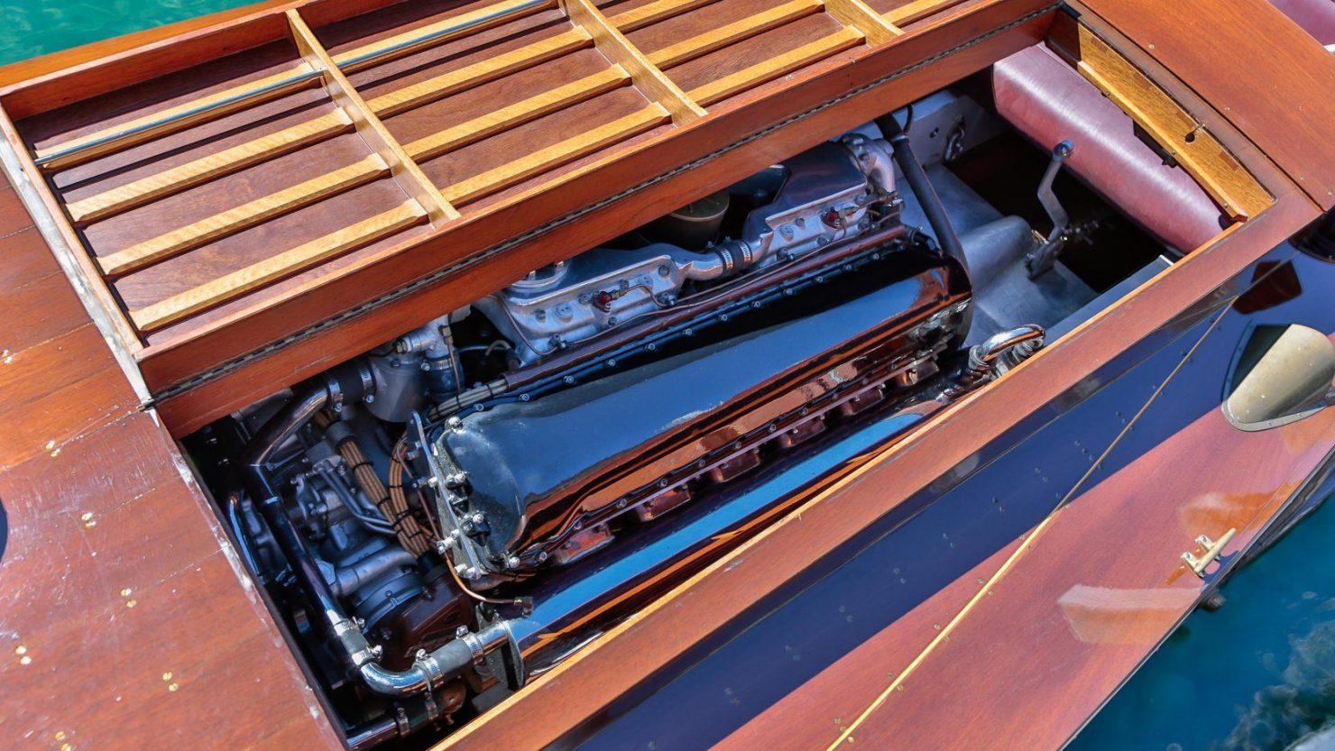 mahogany speed boat 9 1480x833 - 27 Liter V12 Brown & Bassett Gentleman's Racer