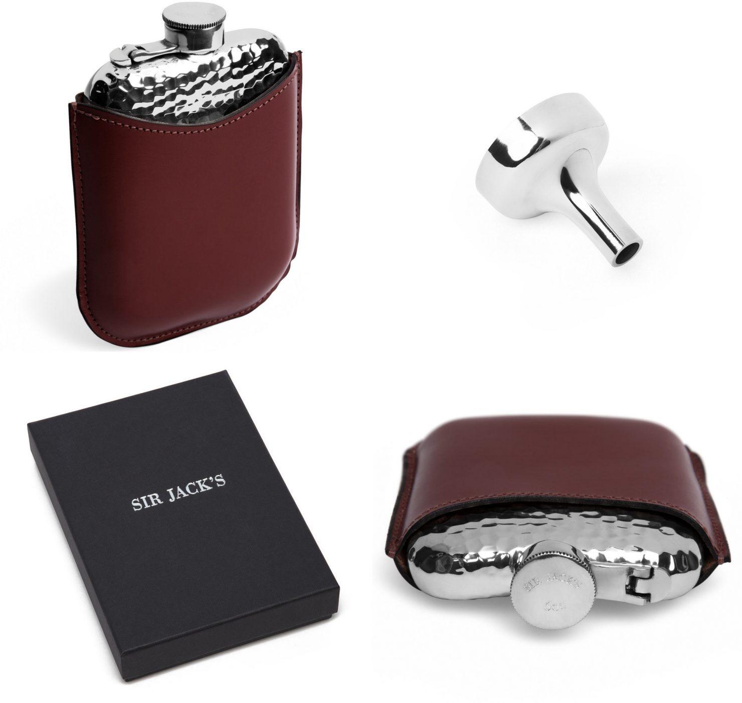 6oz Pewter Hammered Leather Encased Hip Flask 1 1480x1403 - 6oz Pewter Hammered Hip Flask
