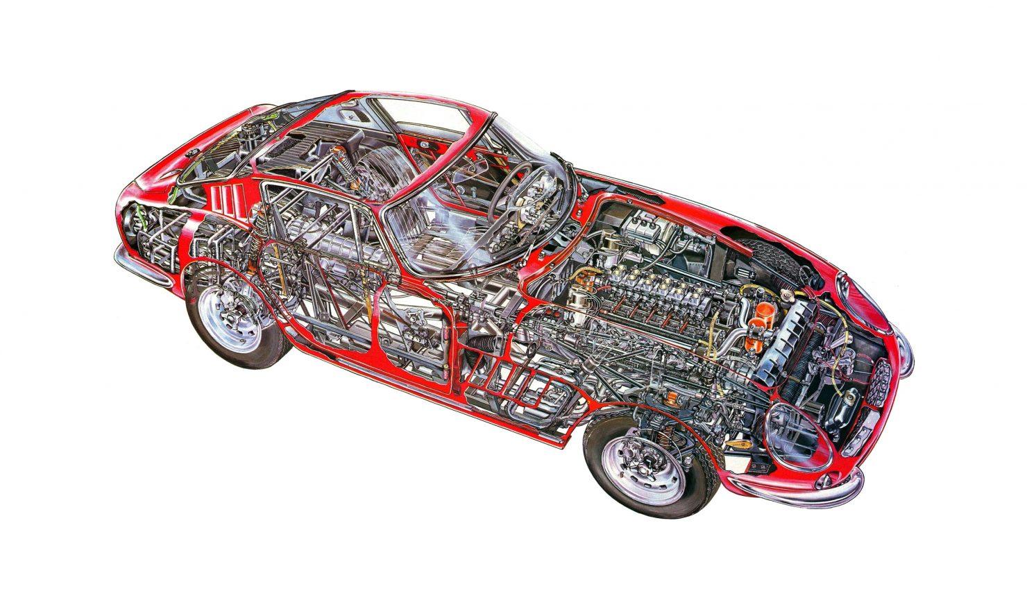 Ferrari 275 GTB Chassis Body Engine Cutaway 1480x878 - 1965 Ferrari 275 GTB/6C Alloy