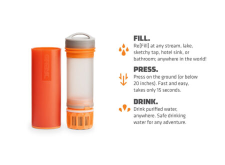 Grayl Ultralight Purification Bottle 450x330 - The Grayl Ultralight Purification Bottle