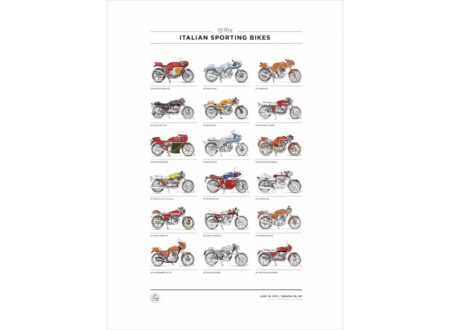 Italian Sporting Bikes of the 70s Poster Series 450x330 - Italian Sporting Bikes of the 70's Poster Series