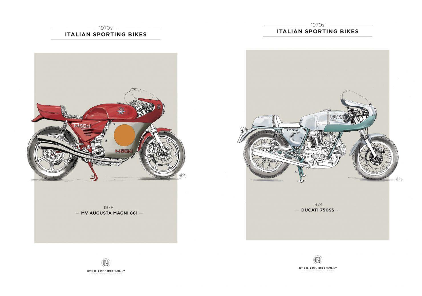 SB70S POSTER MV MAGNI copy 1480x1040 - Italian Sporting Bikes of the 70's Poster Series