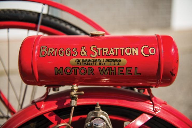 Briggs Stratton Motor Wheel Powered Bicycle 9 740x494 - Briggs & Stratton Motor Wheel Bicycle