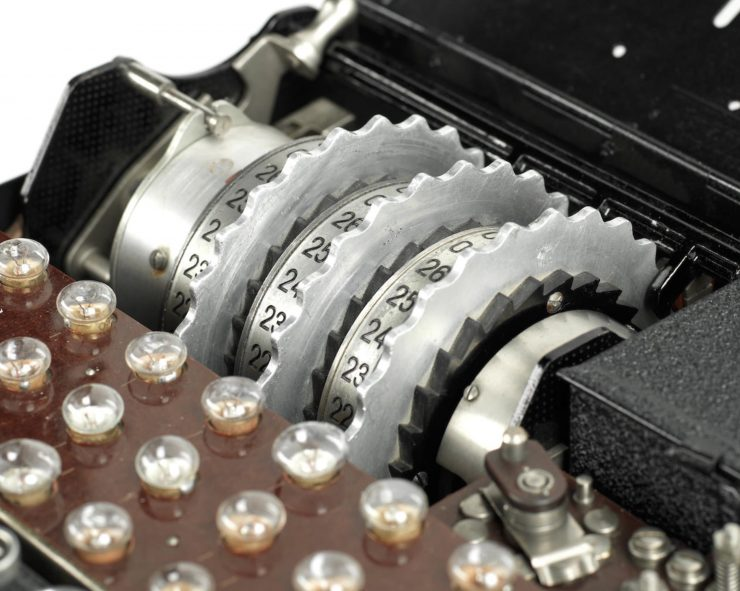 Model 1 Enigma cipher machine 2 740x591 - 1933 Model 1 Enigma Cipher Machine