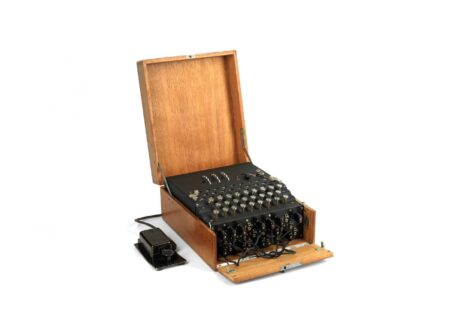 Model 1 Enigma cipher machine 450x330 - 1933 Model 1 Enigma Cipher Machine