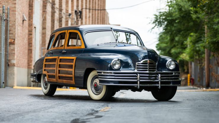 Packard Eight Station Sedan 11 740x416 - 1948 Packard Eight Station Sedan & Teardrop Camper