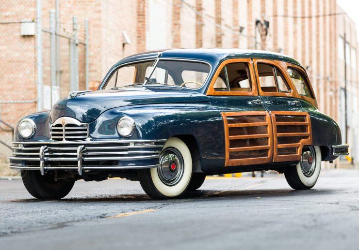 Packard Eight Station Sedan 740x517 - 1948 Packard Eight Station Sedan & Teardrop Camper