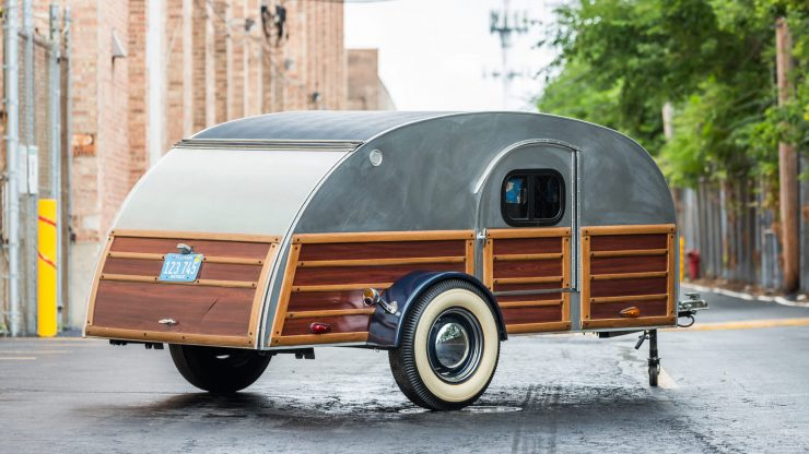 Teardrop Camper Trailer 1 740x416 - 1948 Packard Eight Station Sedan & Teardrop Camper