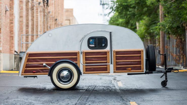 Teardrop Camper Trailer. 740x416 - 1948 Packard Eight Station Sedan & Teardrop Camper