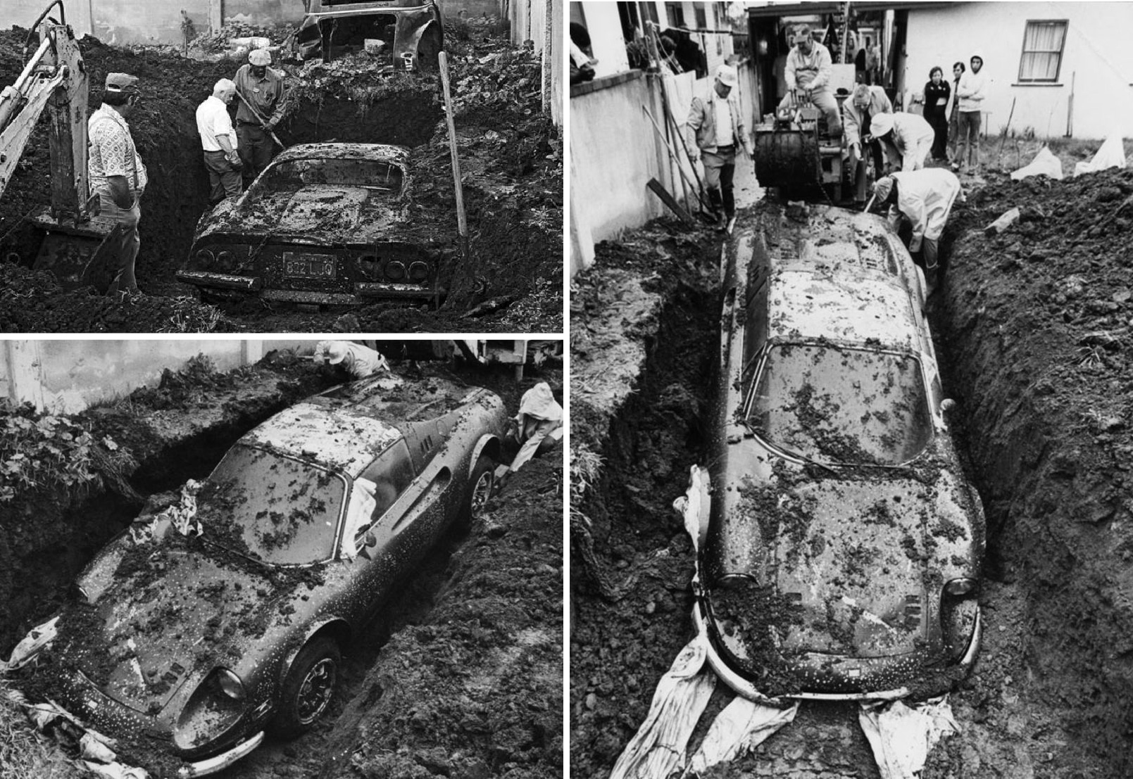 Mystery Of The Buried Ferrari Dino Solved