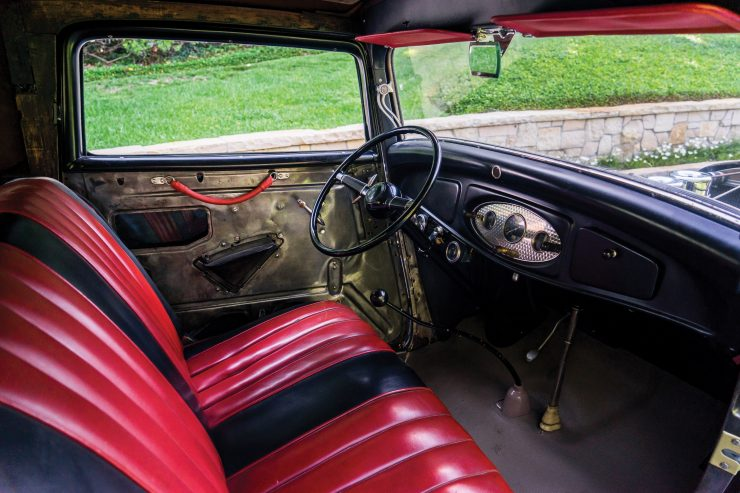Ford Three Window Hot Rod Interior 740x493 - 1932 Ford Three-Window Hot Rod