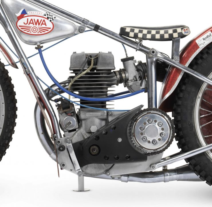 Jawa Speedway Racing Motorcycle 1 740x721 - 1977 Speedway World Championship Final Winning Jawa Racer