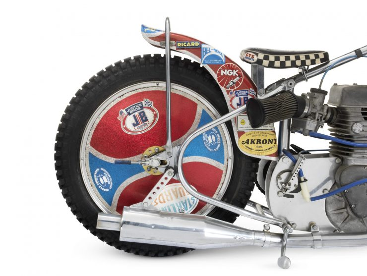 Jawa Speedway Racing Motorcycle 2 740x557 - 1977 Speedway World Championship Final Winning Jawa Racer