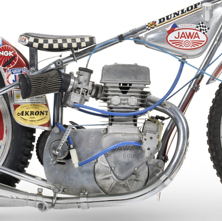 Jawa Speedway Racing Motorcycle 5 740x737 - 1977 Speedway World Championship Final Winning Jawa Racer