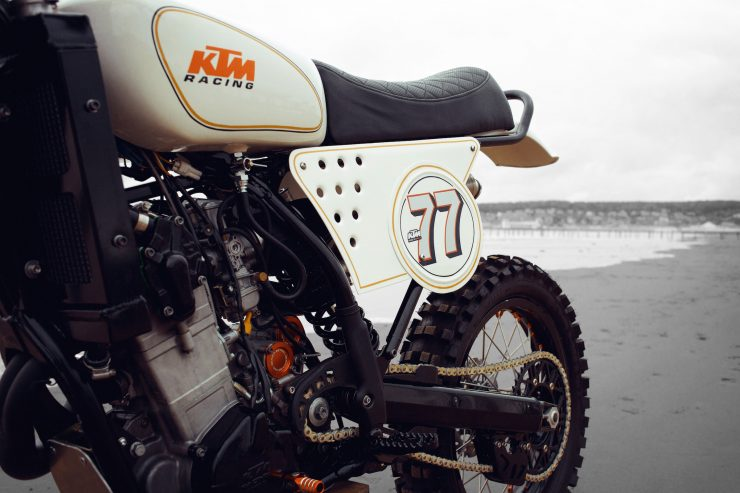 KTM Custom Motorcycle Retro 3 740x493 - Retro Racer: KTM 400 EXC-R