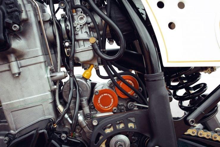 KTM Custom Motorcycle Retro 5 740x493 - Retro Racer: KTM 400 EXC-R