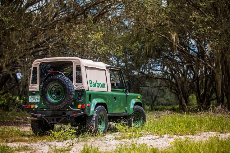 Land Rover Defender Custom 4x4 Car 10 740x493 - Project Barbour by East Coast Defender