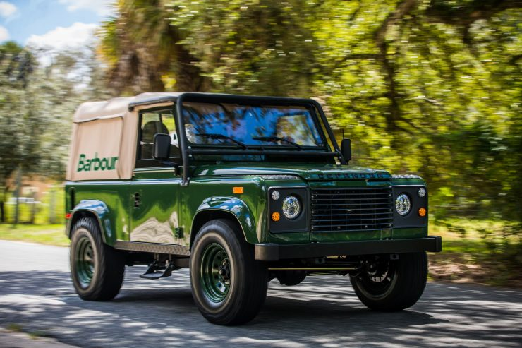 Land Rover Defender Custom 4x4 Car 13 740x493 - Project Barbour by East Coast Defender