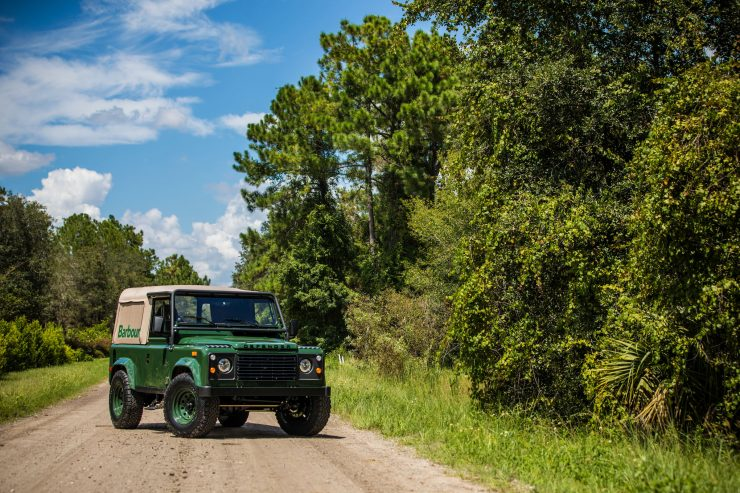 Land Rover Defender Custom 4x4 Car 15 740x493 - Project Barbour by East Coast Defender