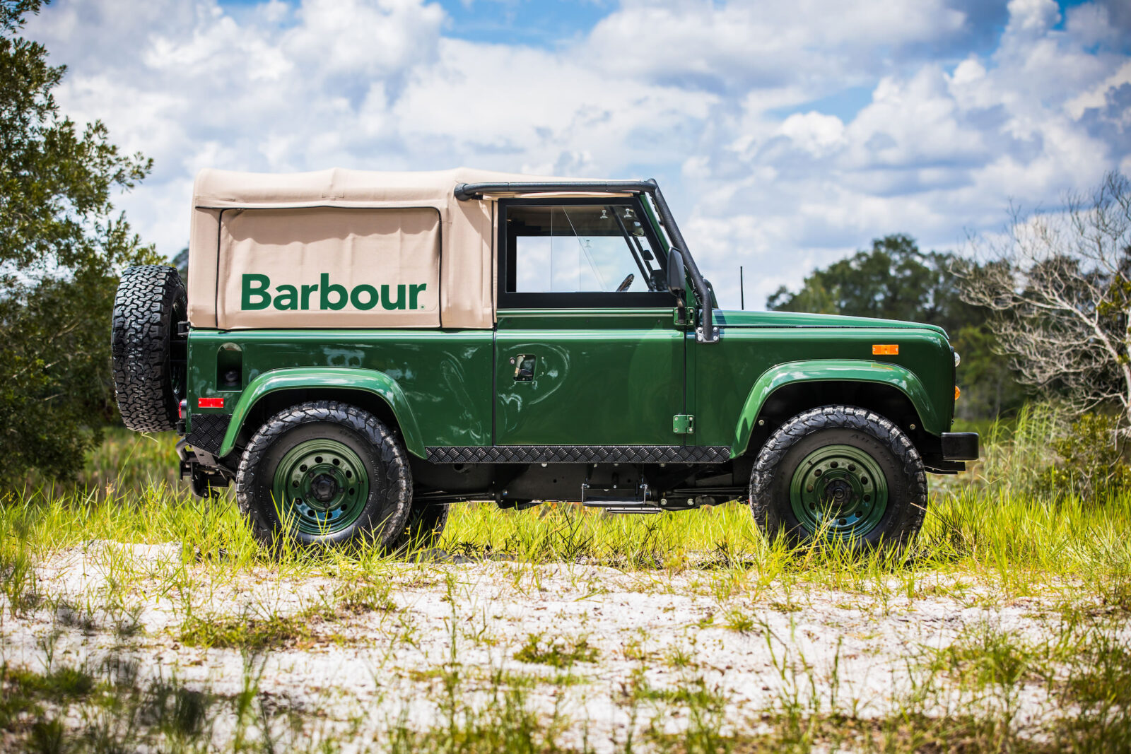 Project barbour by east coast defender for Land rover garage