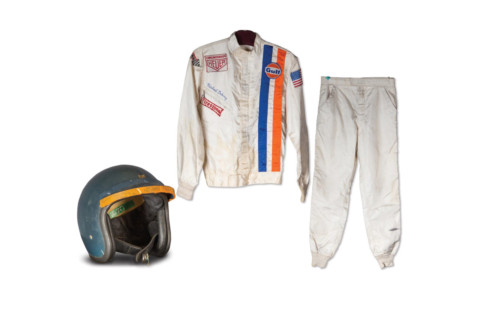 "Steve McQueens Race Suit and Helmet from Le Mans 1600x1069 - Steve McQueen's Race Suit From ""Le Mans"""