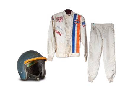 "Steve McQueens Race Suit and Helmet from Le Mans 450x330 - Steve McQueen's Race Suit From ""Le Mans"""