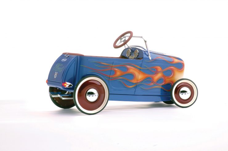 kids pedal car godson rodfather 1 740x492 - Kids' Pedal-Powered Hot Rod