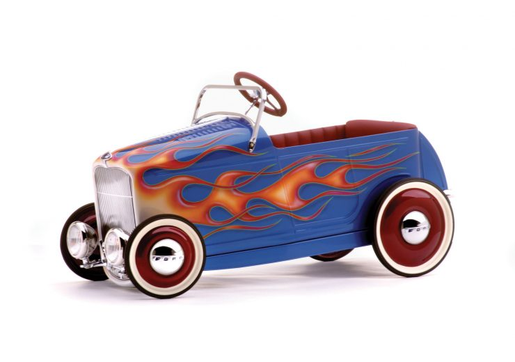 kids pedal car godson rodfather 7 740x520 - Kids' Pedal-Powered Hot Rod