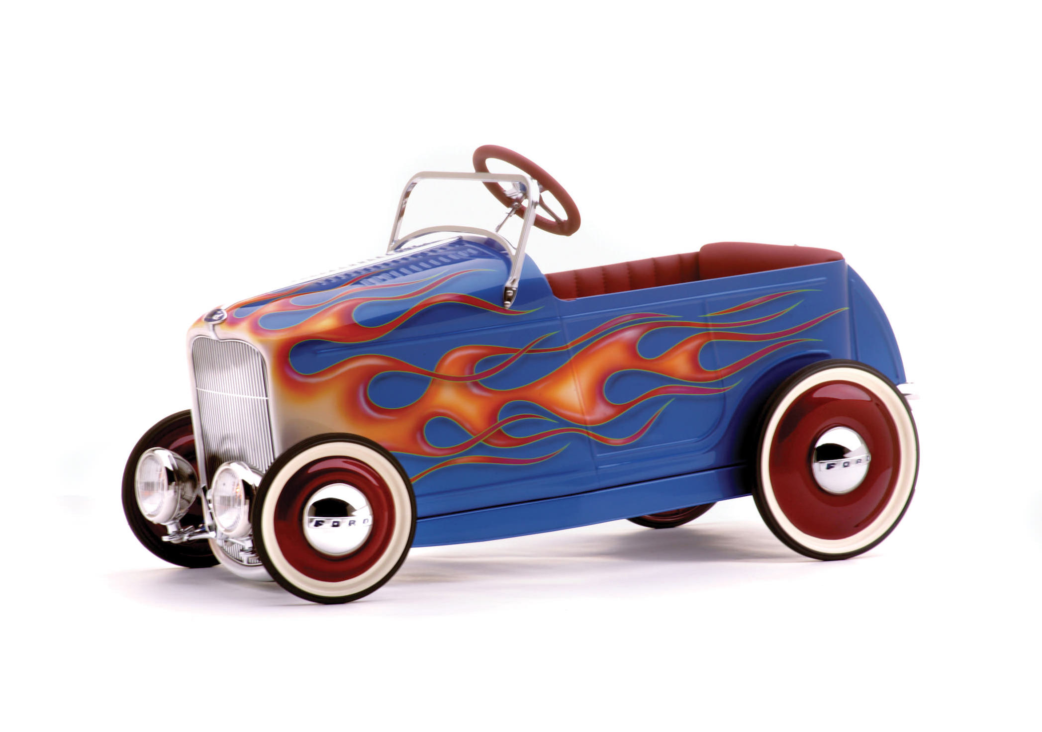Kids' Pedal-Powered Hot Rod