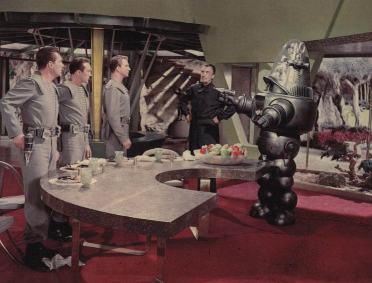 Forbidden Planet 1956 Film 740x564 - The Jeep + Robby the Robot from Forbidden Planet - 1956