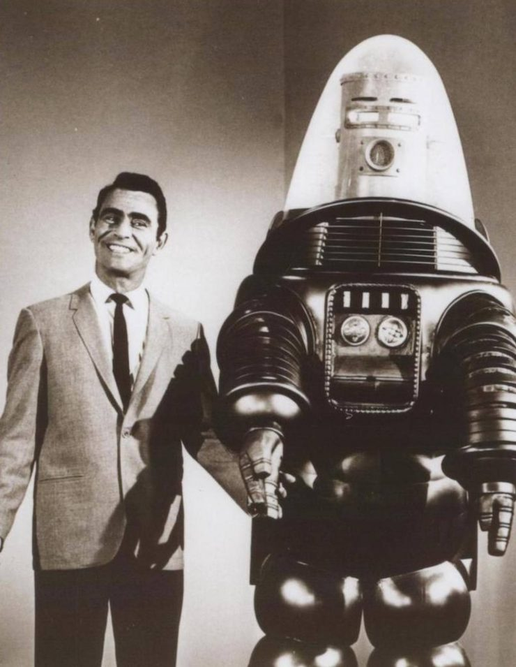 Forbidden Planet 740x955 - The Jeep + Robby the Robot from Forbidden Planet - 1956