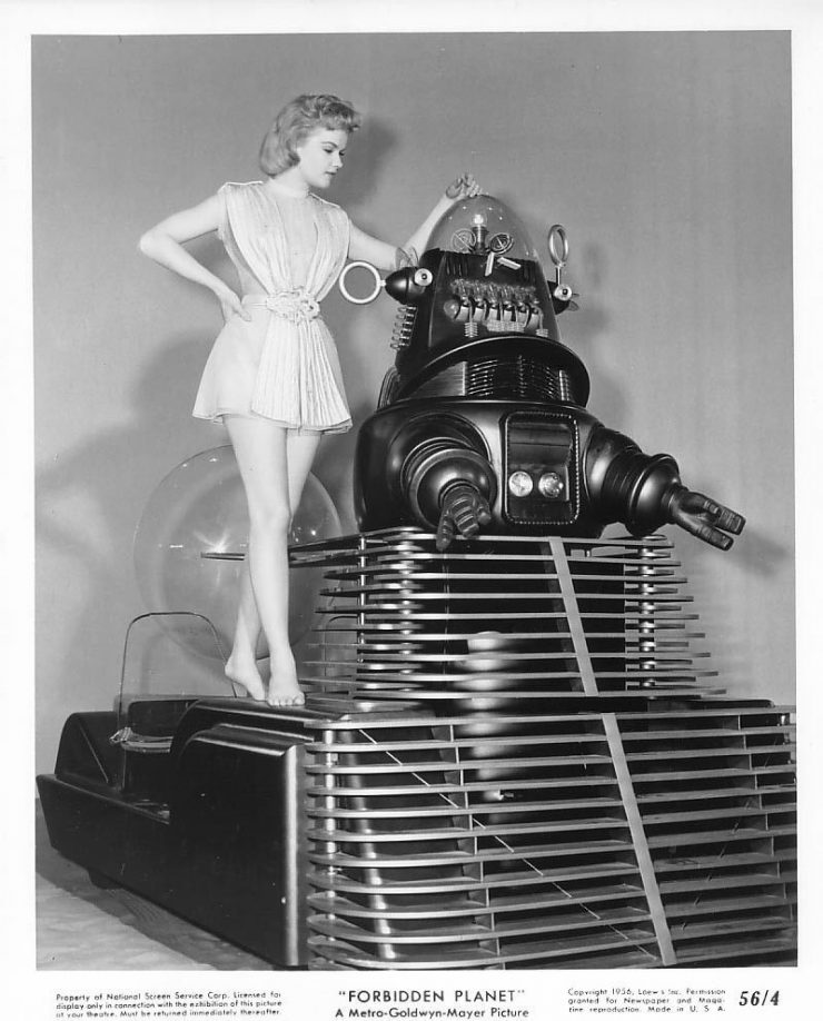 Forbidden Planet Movie 740x918 - The Jeep + Robby the Robot from Forbidden Planet - 1956