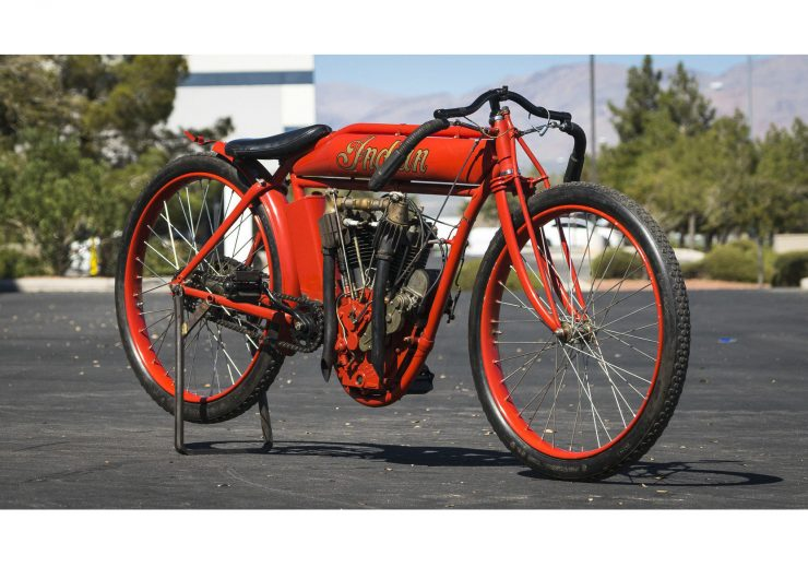 Indian Board Track Racer 1 740x519 - 1912 Indian Twin Board Track Racer