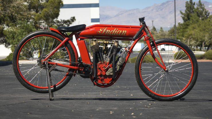 Indian Board Track Racer 2 740x416 - 1912 Indian Twin Board Track Racer